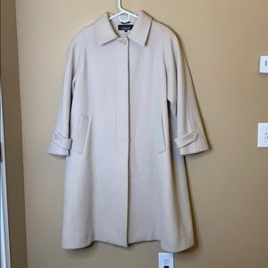 Jones New York cream long wool coat
